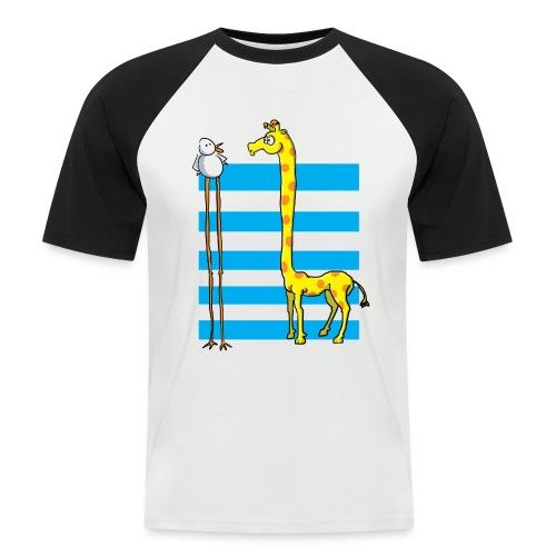 La girafe et l'échassier - T-shirt baseball manches courtes Homme