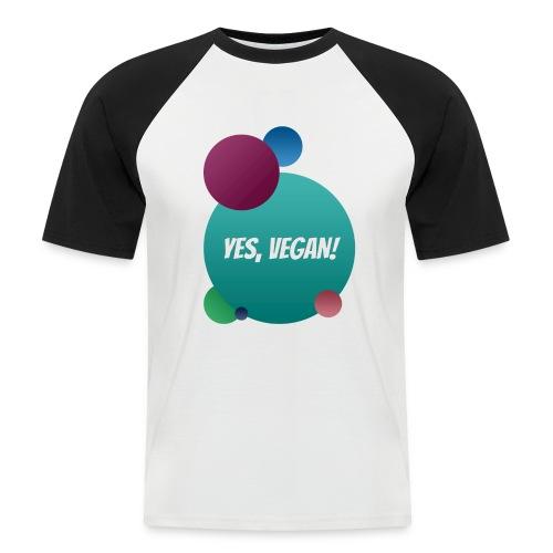 Yes, vegan! - Männer Baseball-T-Shirt