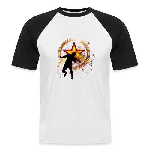 Kopfball Star Deutschland B - Männer Baseball-T-Shirt