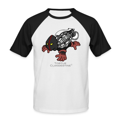 tortueclandestine - T-shirt baseball manches courtes Homme