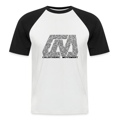 CM Logo aus Text schwarz - Männer Baseball-T-Shirt