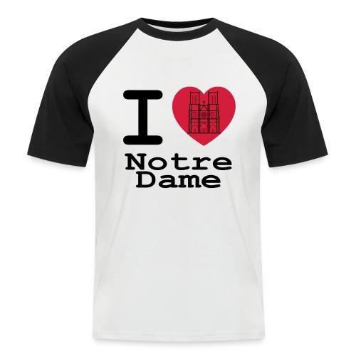 I love Notre Dame - Mannen baseballshirt korte mouw