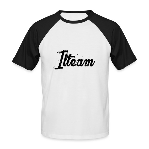 Ilteam Black and White - T-shirt baseball manches courtes Homme