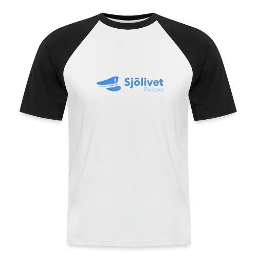 Sjölivet podcast - Svart logotyp - Kortärmad basebolltröja herr