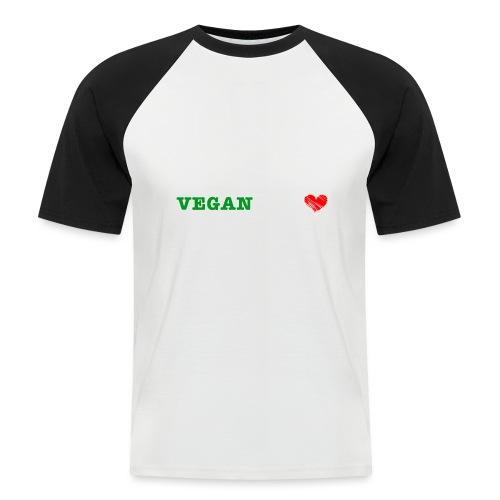 be my VEGANtine - white - Men's Baseball T-Shirt