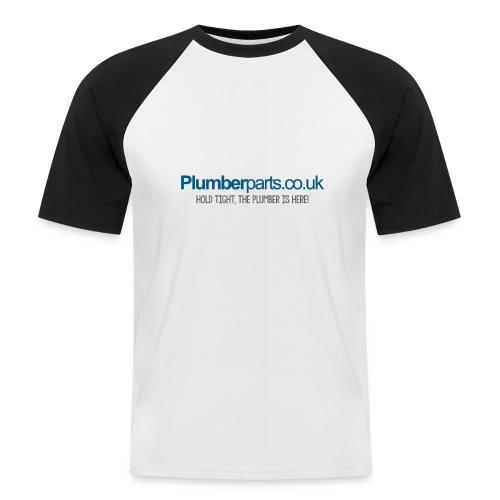 PP4klogoPLUMBERHERE - Men's Baseball T-Shirt