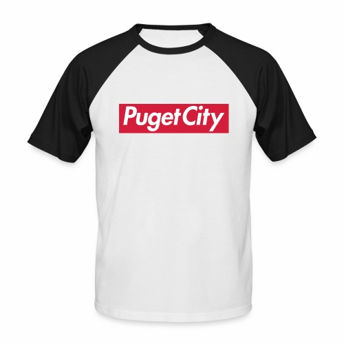 PugetCity - T-shirt baseball manches courtes Homme