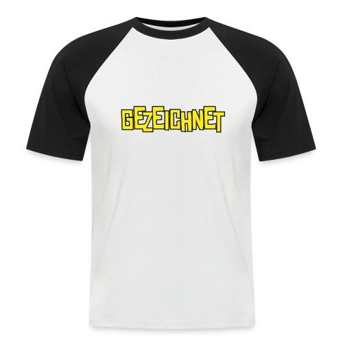 Gezeichnet Logo Gelb - Männer Baseball-T-Shirt