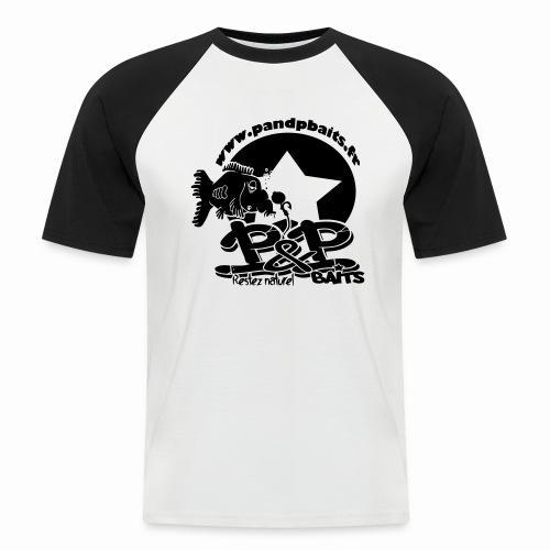 P&PBaits - T-shirt baseball manches courtes Homme