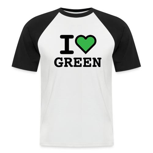 i-love-green-2.png - Maglia da baseball a manica corta da uomo