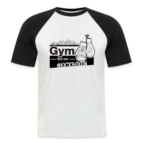 Gym in Druckfarbe schwarz - Männer Baseball-T-Shirt