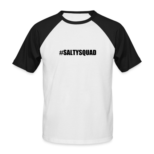 SaltySquad_black - Men's Baseball T-Shirt