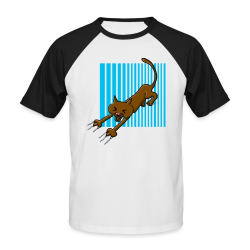 Chat griffes - T-shirt baseball manches courtes Homme