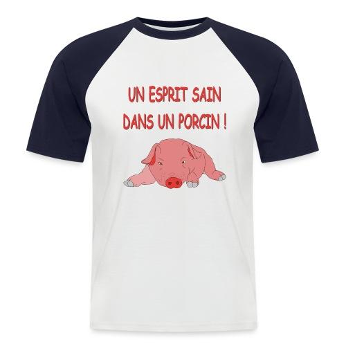 Porcitive Attitude - T-shirt baseball manches courtes Homme