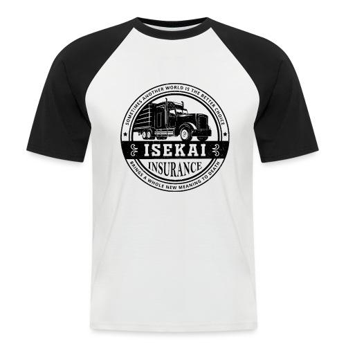 Funny Anime Shirt Isekai insurance Co. - Black - Mannen baseballshirt korte mouw