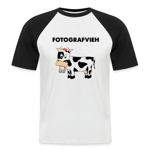 Fotografvieh - Männer Baseball-T-Shirt