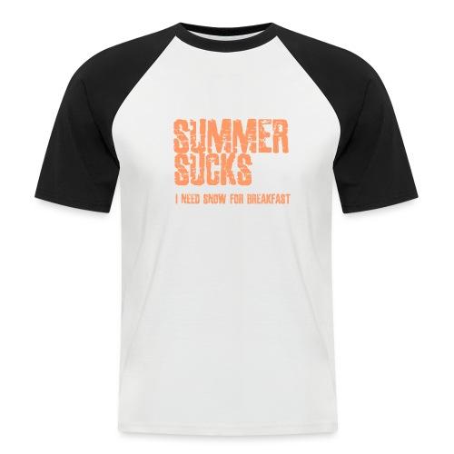 SUMMER SUCKS - Mannen baseballshirt korte mouw