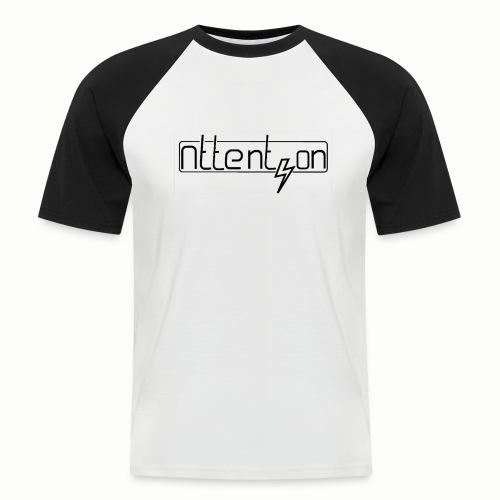 attention - Mannen baseballshirt korte mouw