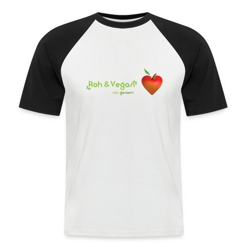 Roh & Vegan rotes Apfelherz (Rohkost) - Männer Baseball-T-Shirt