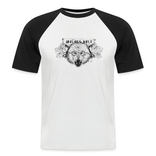 wolves-rule - Men's Baseball T-Shirt