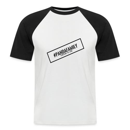 #PandaFamily [Balken] - Männer Baseball-T-Shirt