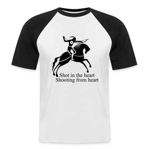Shot in the Heart - Men's Baseball T-Shirt