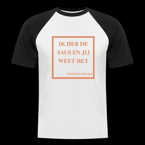 Saus - Mannen baseballshirt korte mouw