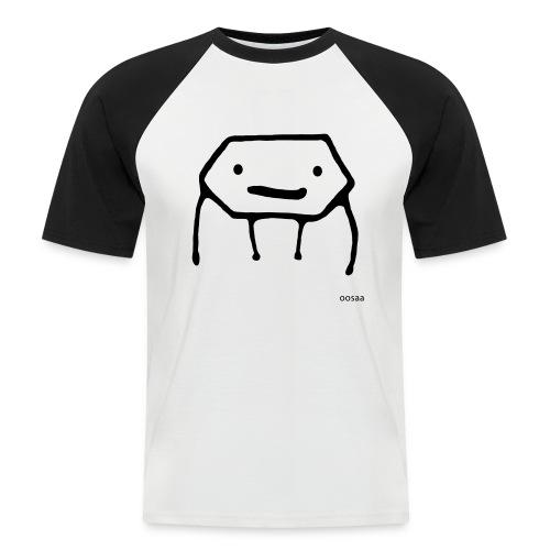 Strichmännchen - Männer Baseball-T-Shirt