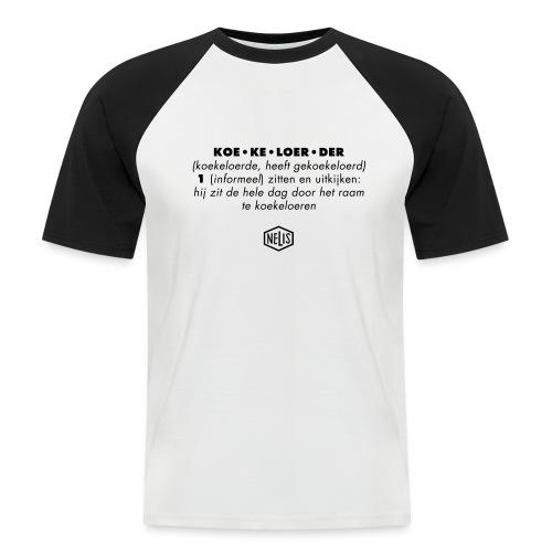 beschr_koek'lrdr - Mannen baseballshirt korte mouw