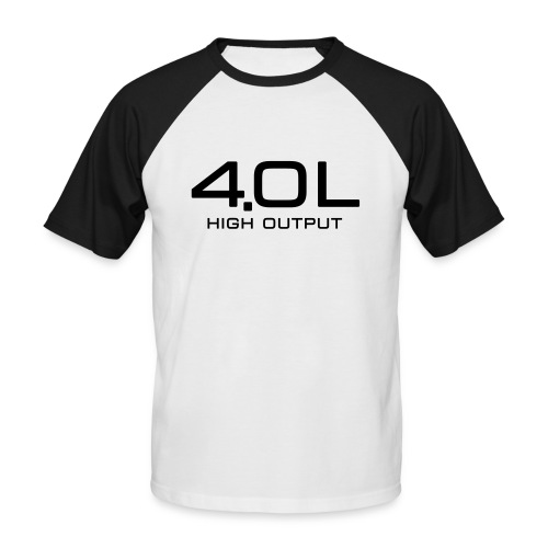 4.0 Litre High Output - Autonaut.com - Men's Baseball T-Shirt