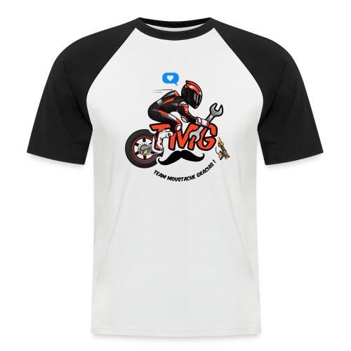 Logo TMG motard - T-shirt baseball manches courtes Homme