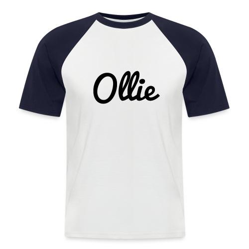 Design 1 png - Kortærmet herre-baseballshirt