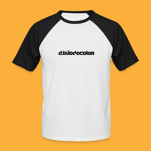 DJATODOCOLOR LOGO NEGRO - Camiseta béisbol manga corta hombre