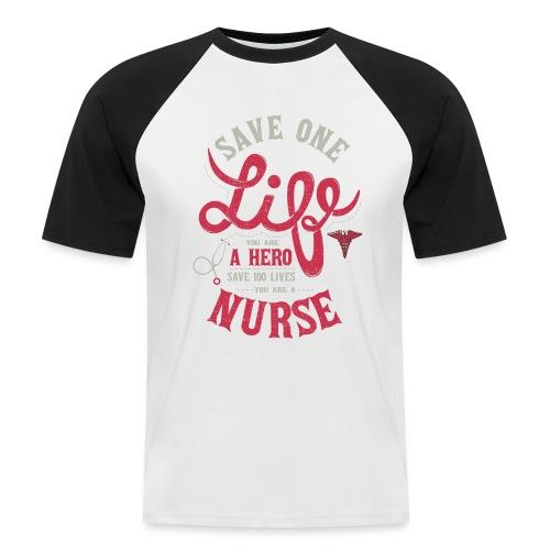 Vintage hero nurse - Miesten lyhythihainen baseballpaita