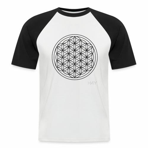 Flower Of Life - This Design Will Heal You - Kortærmet herre-baseballshirt