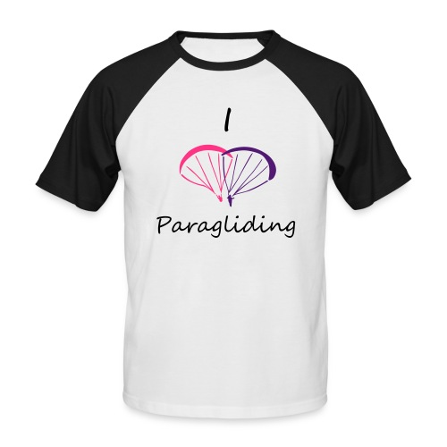 I Love Paragliding V2 - Men's Baseball T-Shirt