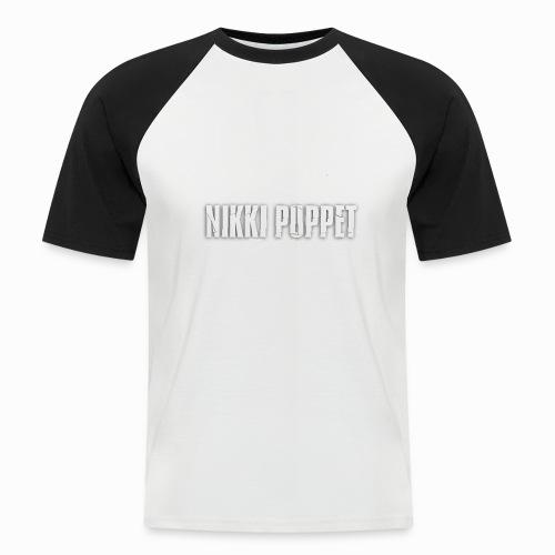 NIKKI PUPPET Gitarrist und Logo weiss - Männer Baseball-T-Shirt