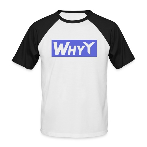 Block Blue | WhyY - Men's Baseball T-Shirt