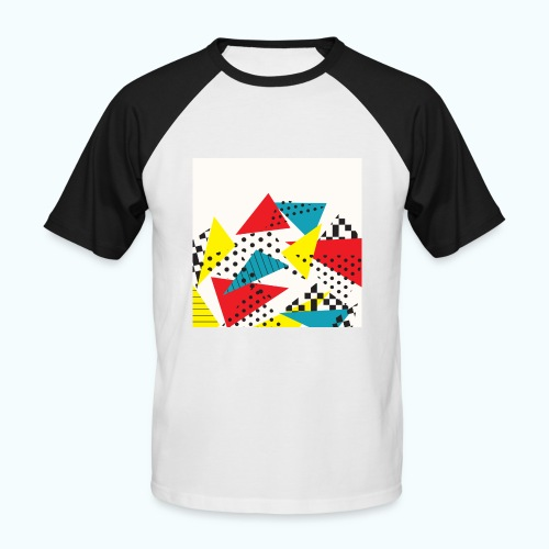 Abstract vintage collage - Men's Baseball T-Shirt