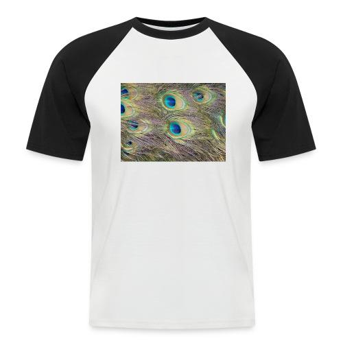 Peacock feathers - Miesten lyhythihainen baseballpaita