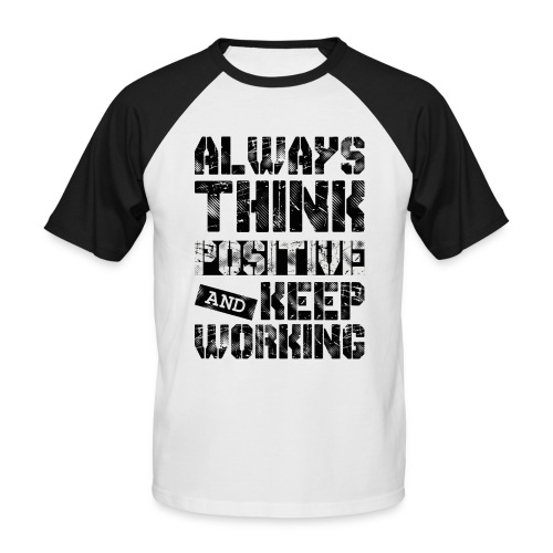 Think Positive - T-shirt baseball manches courtes Homme