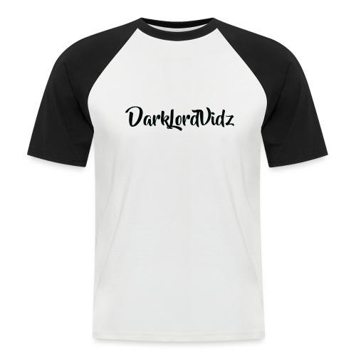 DarklordVidz Black Logo - Men's Baseball T-Shirt