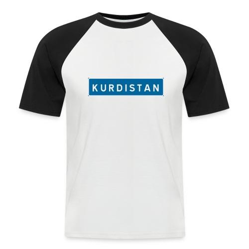 Kurdistanskylt - Kortärmad basebolltröja herr