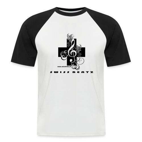 Swiss Beatz Logo with L - Männer Baseball-T-Shirt