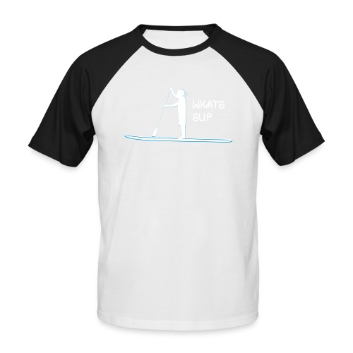 What's SUP - Männer Baseball-T-Shirt