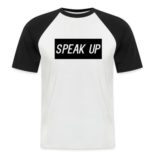 speak up - Kortærmet herre-baseballshirt
