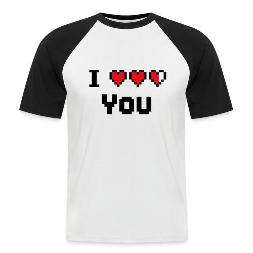 I pixelhearts you - Mannen baseballshirt korte mouw