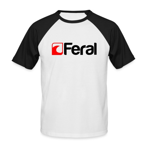 Feral Red Black - Men's Baseball T-Shirt