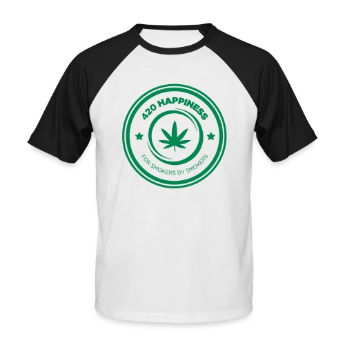 420_Happiness_logo - Kortærmet herre-baseballshirt