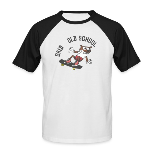 skid cartoon - T-shirt baseball manches courtes Homme